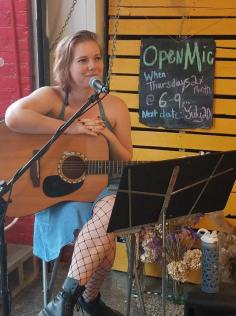 Candid Open Mic at Coffee And Blank in Detroit, Michigan